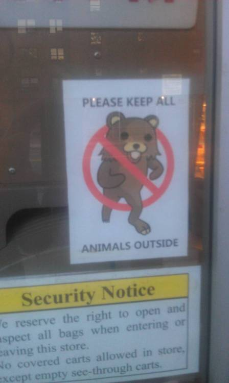 iheartchaos:  Sign found on the door of a Russian food store in NYC Via