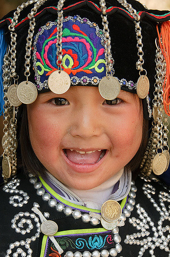 culturalcrosspollination:  Hani Girl from the southwestern Chinese province of Yunnan