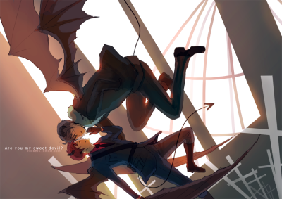 uhoh-beek:  rockets:    please view bigger version here!! Art trade with angleterre !! we're doing the USUK sweet devil versions :) can't wait to see yours lish ahhh its probably 5000x better than mine ;3;  ahh yes, let me just reblog this now.