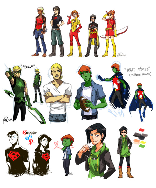 rubypotato:   Genderbent Young Justice Click through for dA source, or visit orangyorange.tumblr.com  ASKJHJSKHS I love these genderbends, man.