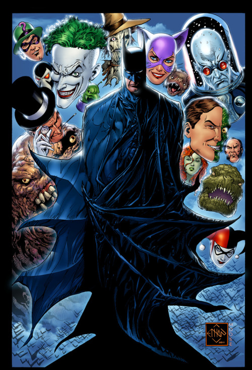 Batman Villains by *MooseBaumann   Art by Ethan Van Sciver, colors by ME!