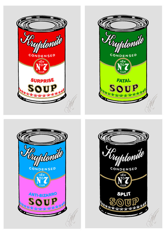 Kryptonite Soup Cans by The Meme Machine Prints available at bigcartel.  (via: omgposters)
