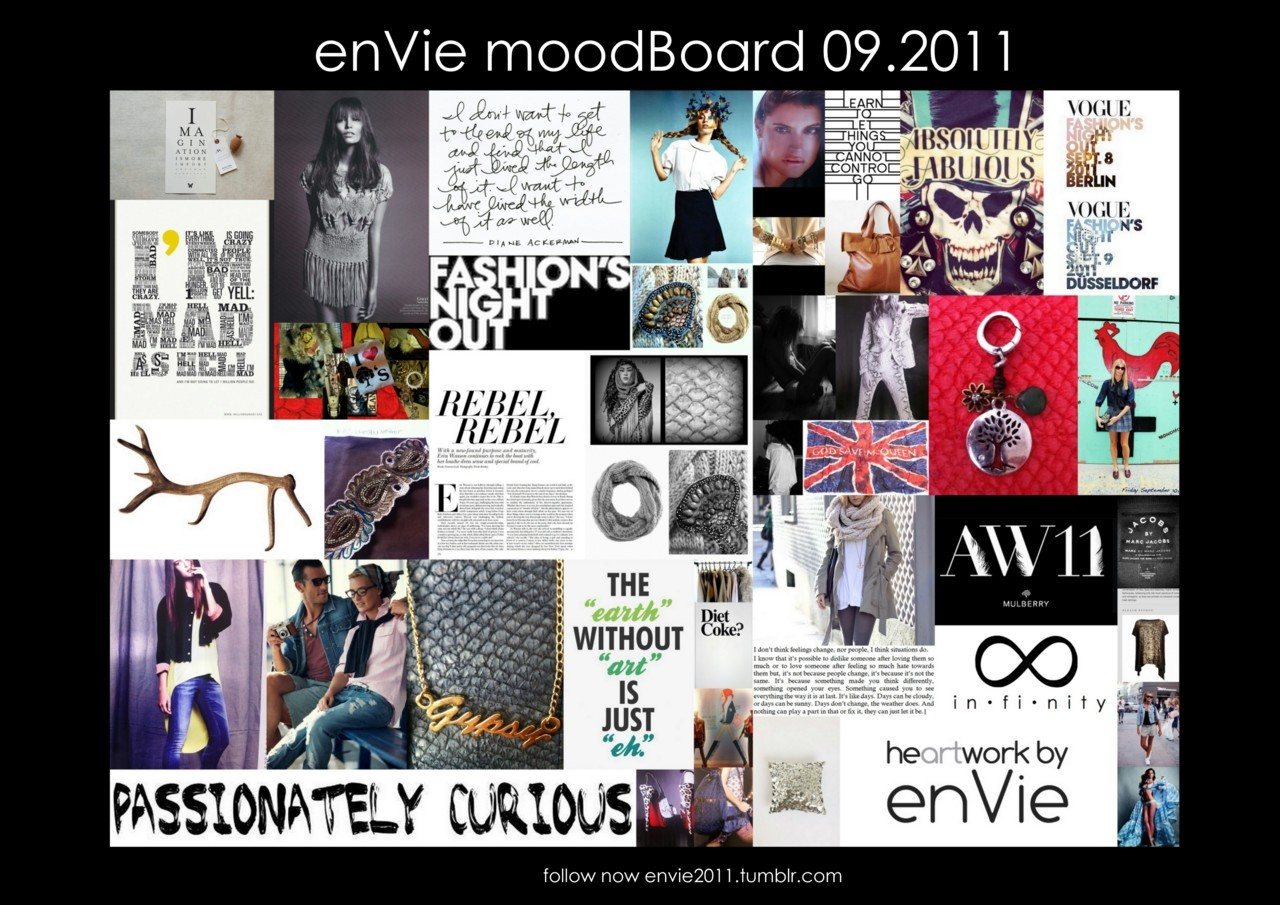"enVie inspiration is all about fashion, spotted hideaways and life&style.With all my moodBoards & posts I aim to make a tasteful collection of fashion-related to&pics. to inspire you in a new appearance, i decided to present my ""ninspirations"" in a new & more efficient way… I kindly ask you to follow me from now on with my latest enVie TUMBLR BLOG.Time is running & pics say more than 1000 words , thus i want to focus on significant snapshots & moodboards."
