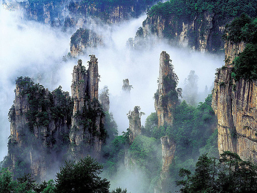 p4ws:  drakeaarow:  衡山 (by 赵祥)  it looks avatar.