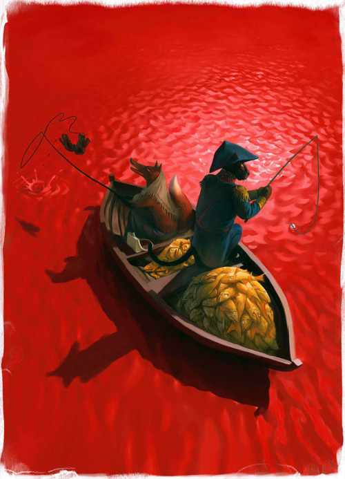 theartofanimation:  Waldemar von Kozak  Fabulous — the perspective!  The colors!  the great water ripples that I need to save for a style reference!