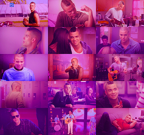 psychobritta:    colors meme: noah puckerman in purple (asked by ansley)