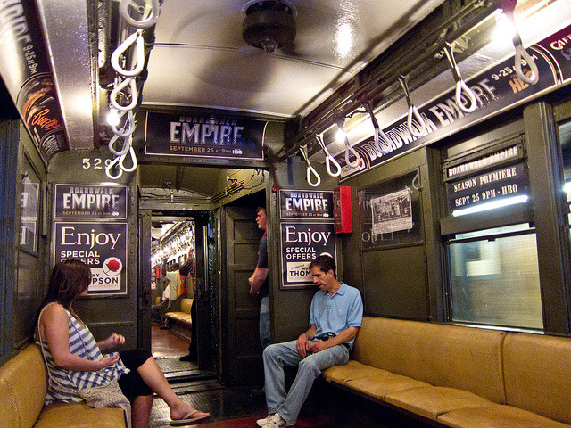 laughingsquid:  HBO Promotes Boardwalk Empire With Vintage NYC Subway Train
