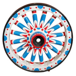 Circus wagon wheel. Found here.