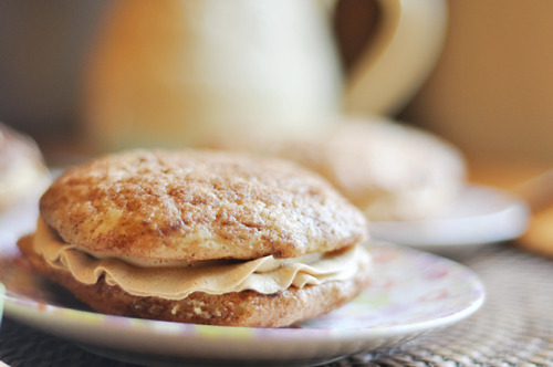 gastrogirl:  biscoff buttercream snickerdoodle whoopie pies.  Ok, so yes on this. I'm very very intrigued.