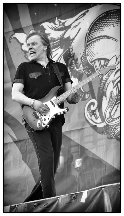 James Young, Styx, in action. Sweden Rock Festival 2011.