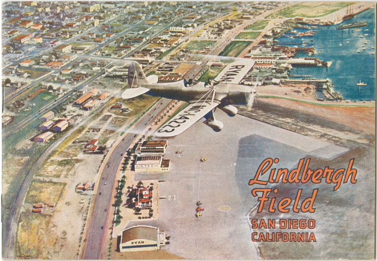 "Lindbergh Field Municipal Airport, San Diego, California, ""Air Capital of the West"" prepared and distributed by Harbor Department, City of San Diego, 1935"