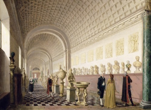 Pehr Hilleström. The Inner Gallery of the Royal Museum at the Royal Palace, Stockholm. 1796. Oil on canvas. Nationalmuseum. Stockholm, Sweden.