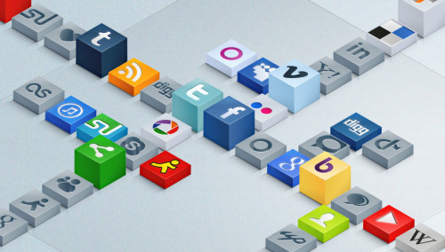 Free Isometric 3D Social Icons Set Download here