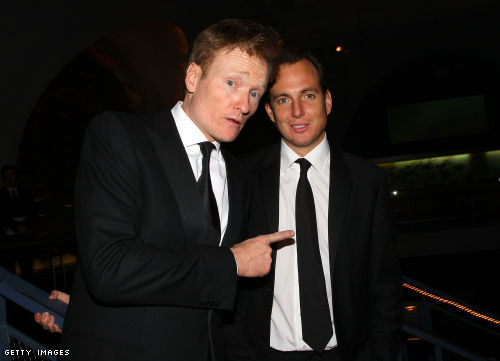 Conan O'Brien and Will Arnett