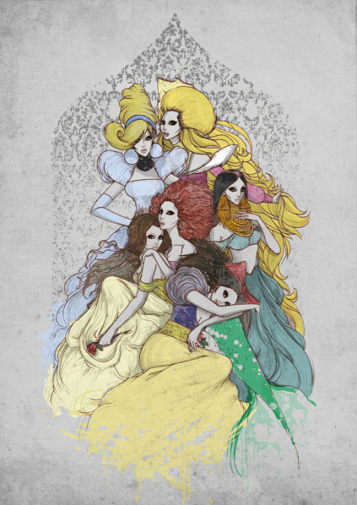 52hearts:  Macabre Disney Ladies by Anwar Rafiee (via Buzzfeed)