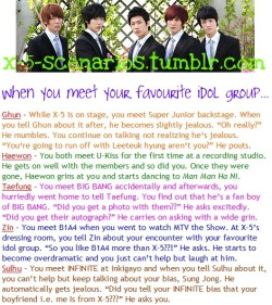 X-5 Scenario [58] When you meet your favourite idol group… Requested by sonaini89