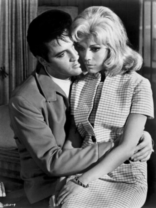 "iloveretro:  Elvis Presley and Nancy Sinatra in "" Speedway"" (1968)"