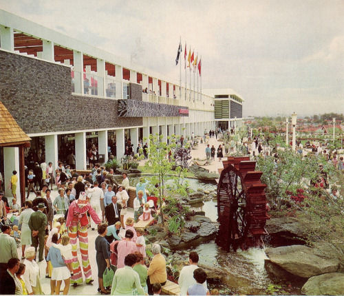51vc:  Roselands Shopping Centre, 1966 by glen.h on Flickr.