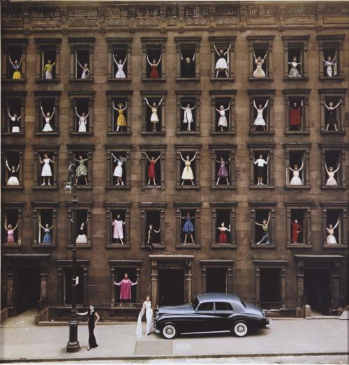 Ladies, please - one at a time. Girls in the Windows by Ormond Gigli.