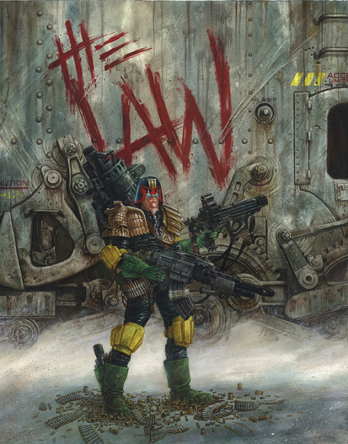 xombiedirge:  Judge Dredd by Dave Dorman