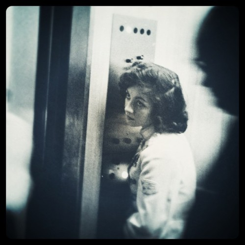 Robert Frank - Elevator, Miami Beach, 1955. Modified using instagram. View original version here.