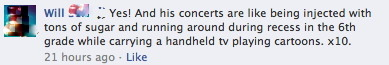 …and my very accurate description of a Dan Deacon show (and his music itself).