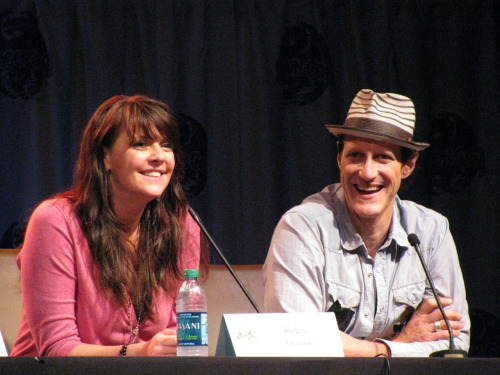 Amanda Tapping and Christopher Heyerdahl.  I love this picture.  They were all smiles all weekend.  I loved that we got to see their affection for each other.