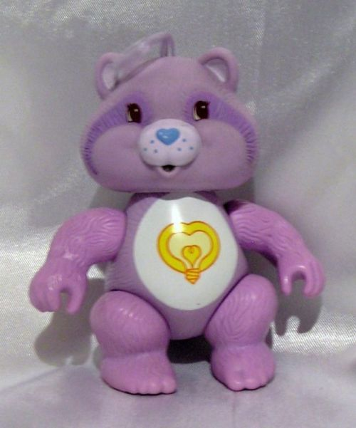 How did I ever NOT know that there is a Care Bear Cousin named Bright Heart the Raccoon???