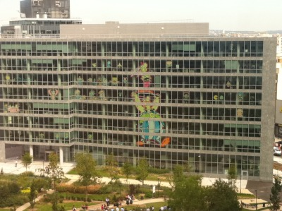 Asterix & Obelix from a French post-it notes war via DesignTAXI