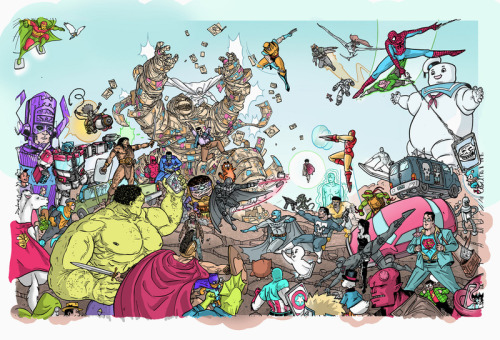 fumettidccomics:  texascheeseman:  Wow! This is awesome stuff from Ulises Farinas.  .  .