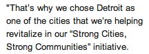 —Obama's speech yesterday from Detroit. —(Click on Pic for full article) Here's a little nugget I wrote roughly 6 months ago.   Not bad eh?
