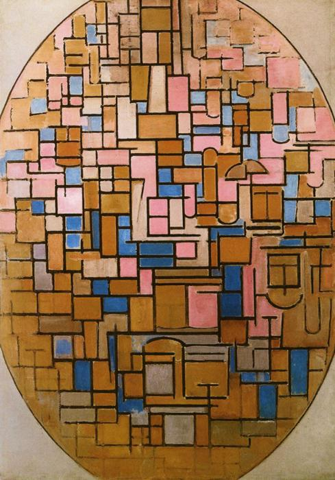 Tableau III by Piet Mondrian.Oil on canvas. 140 x 101 cm. Stedelijk Museum, Amsterdam, Netherlands.This makes me damn happy. It's like a wonderful tetris sunset.