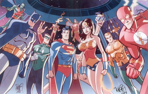 jesic:  Marcio Takara's gorgeous Justice League!