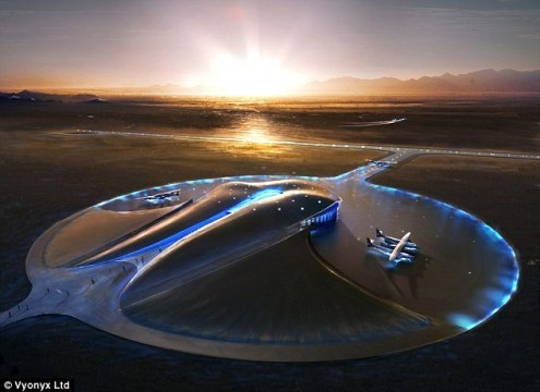 Phase One of World's First Commercial Spaceport 90% Completed- First Flights in 2013 (WIDK) (Daily Mail By DAMIEN GAYLE) — Phase one of the world's first commercial spaceport, which will be the hub for Virgin's consumer spaceflights, is now 90 per cent complete.  The 1,800-acre Spaceport America site, in Las Cruces, New Mexico, is the home base for Virgin Galactic, Richard Branson's most ambitious business venture yet. It already boasts a runway stretching to nearly two miles long, a futuristic styled terminal hanger, and a dome-shaped Space Operations Center. The work is now just months away from completion, according to a spaceport spokesman, and is set to be done by the end of the year, well in time for the first expected Virgin Galactic spaceflights in 2013. Christine Anderson, the newly appointed executive director of the New Mexico Spaceport Authority, told SPACE.com she was 'jazzed' about the progress made so far. 'When you think about what a feat that is, to build all that anywhere, but then to build it in the middle of the high desert in New Mexico — that's a small city that was built,' she said. 'So hats off to all the contractors and architects and everybody else that spent a lot of time and sweat equity in its development.' But Ms Anderson has already met challenges. No sooner had she started in her new job, the New Mexico legislature slashed the spaceport office budget by more than half. And there is no firm date yet for Spaceport America to begin operations. Virgin Galactic's WhiteKnightTwo/SpaceShipTwo launch system is still in testing and she says it is up to them when they decide it is safe to fly tourists to the edge of space. At a best guess, she told SPACE.com, flights could begin in the first quarter of 2013. Construction of phase two has already begun and is set for completion in time for Virgin Galactic's pioneering flights. It will include the completion of the Vertical Launch Complex facility, two visitor centres in nearby towns and a further visitor center on the main spaceport site. Original Article