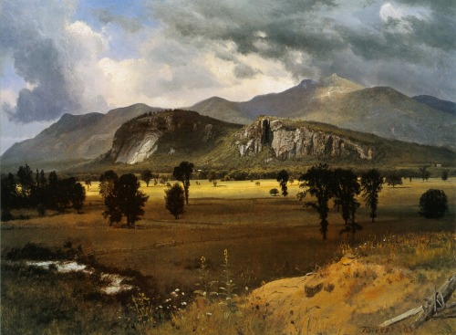 cavetocanvas:  Moat Mountain, Intervale, New Hampshire - Albert Bierstadt, 1862