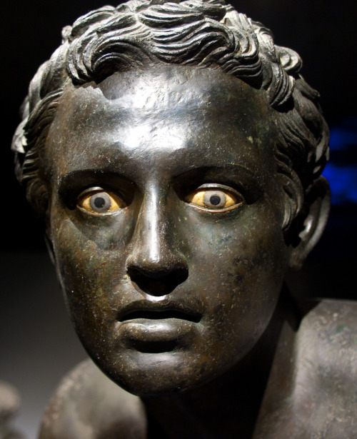 firstdesire:  Close up of a Roman bronze runner, Herculaneum.