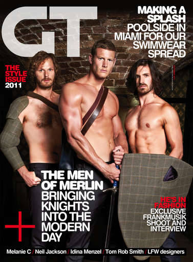 omgeoinmacken:  Thanks to merlin_network @ livejournal! Rupert, Tom and Eoin are on the cover of Gay Times' October issue, which is available to buy now. (via PocketMags, which also sells the magazine at this link)