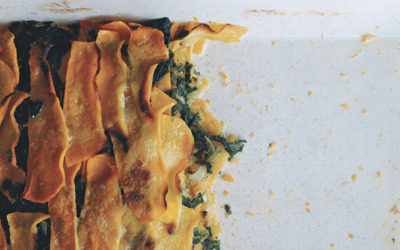 BUTTERNUT SQUASH AND CREAMED-SPINACH GRATIN  Find Recipe: here