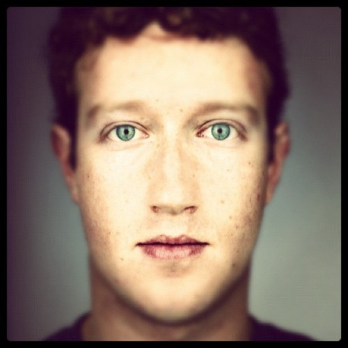 Martin Schoeller - Mark Zuckerberg, 2010. Modified using instagram. View original version here.