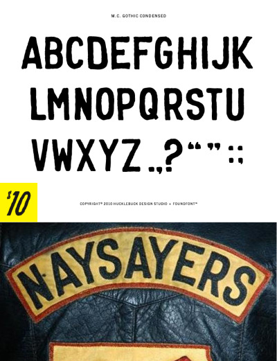 M.C. GOTHIC - Uppercase OpenType font with basic punctuation $10.00 - Buy Now