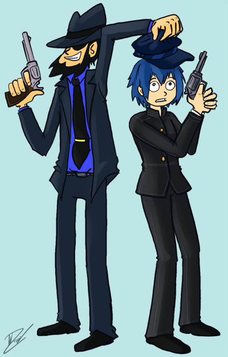 Today's doodle: Jigen and Naoto. Yeah idk.