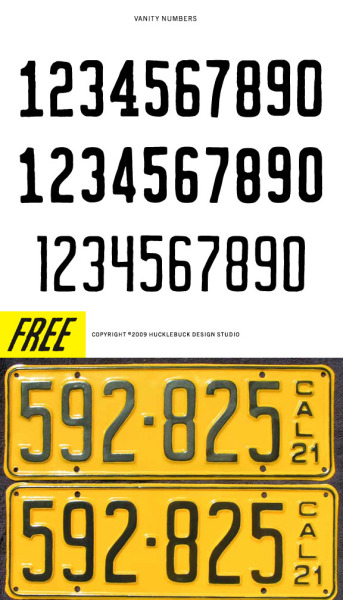 VANITY NUMBERS /// DOWNLOAD VECTOR SET HERE ///