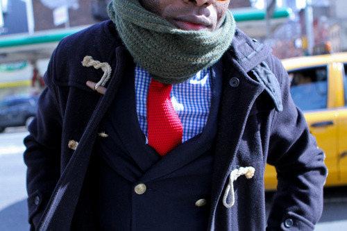 Is that a scarf or a neck brace, brah?
