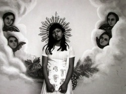 "boyhood:  ""Virgin of the Angels, Mexico"" Flor Garduno 1987, printed 1995"