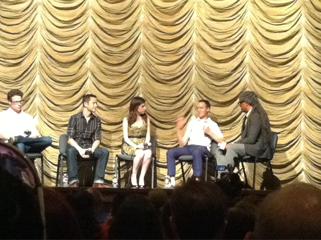 Q&A with @hitRECordJoe , Seth Rogen, Anna Kendrick and screenwriter Will Reiser begins!   Src