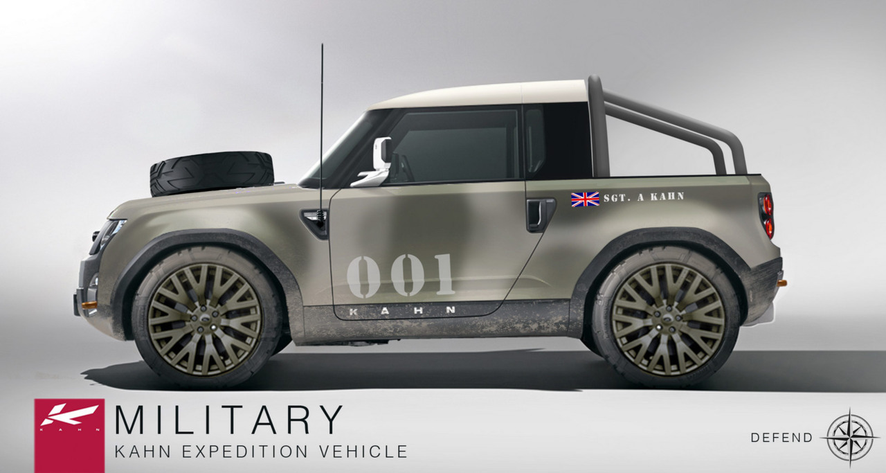 Sexy Concept Series: Project Kahn Land Rover Defender DC100 Concept Military Kahn Expedition Vehicle (Rendered) (vía Carscoop)
