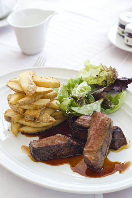 Flat Iron Steak with Steak Fries