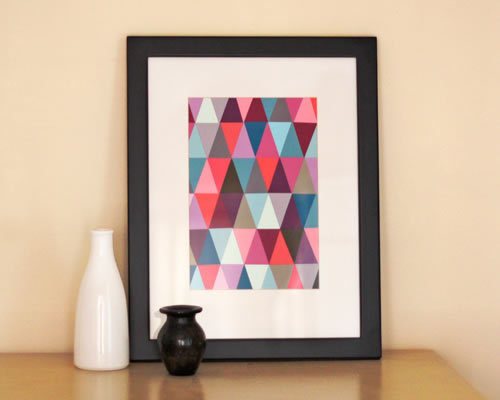 Paint Chip Art by Jessica Jones (via How-To: Paint Chip Art @Craftzine.com blog)