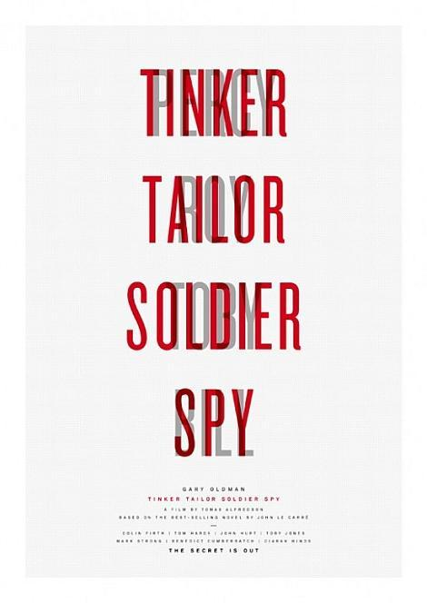 Paul Smith - Tinker, Tailor, Soldier, Spy minimalist posters Renowned British fashion designer Sir Paul Smith has created a set of four limited edition art posters for the upcoming film adaptation of Tinker, Tailor, Soldier, Spy. The posters, limited to 50 of each print, are each signed by Smith himself and will go on sale in Paul Smith shops from September 13th, with all profits benefiting Maggie's Cancer Caring Centres. Each minimalist poster will be sold for £100, all for a great cause. Check out the rest of the posters below -