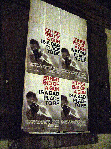 Either end of a gun … (by Saleem) Toronto; Amnesty anti-gun campaign, November 2005